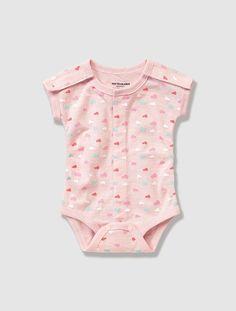 Body bébé préma imprimé Eau de rose - vertbaudet enfant