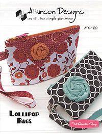 Lollipop Bags Sewing Pattern Atkinson Designs #ATK-160