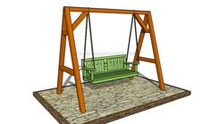 How to build a garden swing Diy Frame, Porch Swing Frame, Lawn Swing, Bench Swing, Diy Swing, Patio Swing, Garden Swings, Backyard Swings, Porch Swings