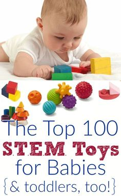 Great gift ideas for babies! The top educational baby toys for STEM learning and early development. If you are new to this buzzword, STEM is an acronym for Science, Technology, Engineering, and Mathmatics. It is not about teaching kids computers and complex math, but rather, STEM skills in babies and toddlers are developed naturally by exploring and learning through toys and activities.