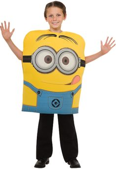 Mix lots of fun and smiles with Despicable Me 2 Minion Dave Foam Costume Child. Get ready for mesmerising collection of Despicable Me Costumes for Halloween at ToyHo.