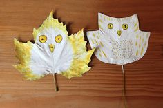 Autumn Leaves made into owls! For the owl lover in your family.