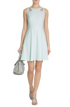 TARA JARMON ---  Crepe Dress with Cut-Out Detail --- was  € 260 --- is  € 156   (- 40%)