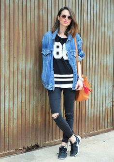 #sport #sporty #chic #nike #denim #levis #casual #look #ootd #outfit
