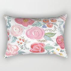Watercolor+Floral+Print+Rectangular+Pillow+by+Jenna+Kutcher+-+$27.00