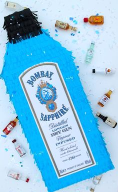 Bombay Sapphire Liquor Bottle Piñata: A how-to guide to DIY any bottle of liquor into a piñata. Bombay Sapphire, Dry Gin, Liquor Bottles, Diy Projects, Create, Handmade Crafts, Diy Crafts