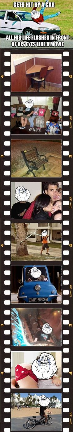 Forever Alone, Life Flashes in Front of His Eyes - http://gags101.com/forever-alone-life-flashes-in-front-of-his-eyes/
