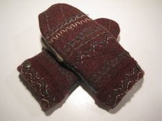 MMC0224 Reed City Wool Mittens women med/lg by MichMittensbyLauri, $23.00
