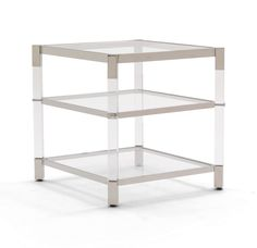 MELROSE 2 SHELF SIDE TABLE<BR>[available online and in stores]