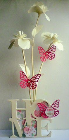 Ese rincón del corazón: Tutorial home decor. Butterflies form Big Shot starter kit