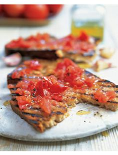 Tomato and Garlic Bruschetta #recipe #healthy