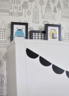 PUISTOLASSA: Sänky pieni pyörii - 4x uudet verhot sekä lastenhuoneen uusi järjestys