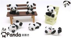 panda bear ceramic chopstick rest bento sitting panda - Cutlery - Bento Boxes - kawaii shop modeS4u