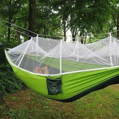 hot selling portable hammock single person folded into the pouch mosquito   hammock hanging bed for travel kits camping hiking how to make a mosquito   for a hammock    homespiration      rh   pinterest