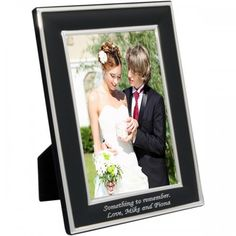 Engraved Black Photo Frame  from Personalised Gifts Shop - ONLY £17.99