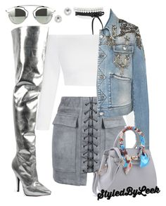 """5ThGenerationFashion.Tumblr.Com"" by stylebywho ❤ liked on Polyvore featuring WithChic, Roberto Cavalli and EF Collection"