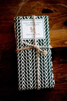 Mast Brothers Chocolate  Beautiful packaging!