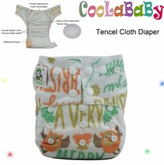 Find More Baby Nappies Information about Coolababy Tencel Baby One size Cloth Diapers Reusable Diaper Pocket Nappy with insert free shipping,High Quality nappies manufacturers,China diaper boy Suppliers, Cheap diapers infant from Coolababy on Aliexpress.com