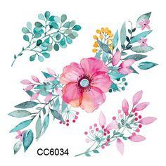 미니 바디 아트 방수 임시 문신 wodesign 플래시 문신 스티커 무료 배송 CC6034