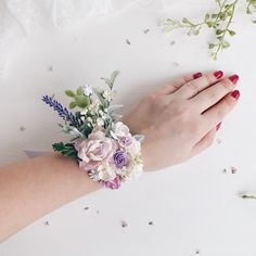 Excited to share this item from my shop: Lavender Flower wrist corsage, Lilac flower weist corsage, bridesmaids corsage Wedding Flower Guide, Beach Wedding Flowers, Prom Flowers, Lilac Wedding, Wedding Flower Arrangements, Lavender Flowers, Wedding Bouquets, Wedding Day, Wedding Heels