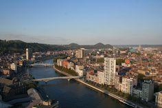 Vista de Lieja y el río Mosa