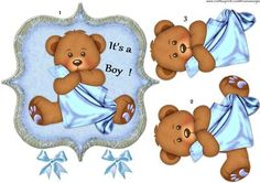 It s a Boy on Craftsuprint designed by Marijke Kok - Cute card for a new baby Boy.