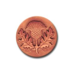 Scottish Thistle Ceramic Cookie and Clay Stamp. $8.50, via Etsy.