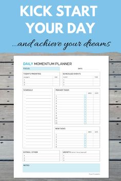 This must-have printable planner has been invaluable on my incredible journey to building my freedom lifestyle. It has given me the focus and clarity I needed to overcome procrastination, plan my days easily and effortlessly, take action daily on the thin