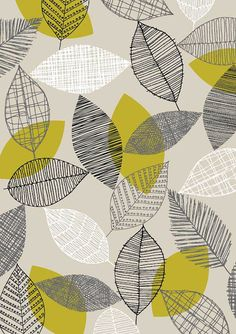 Scattered Leaves, limited edition giclee print by Eloise Renouf Graphic Patterns, Textile Patterns, Print Patterns, Graphic Design, Surface Pattern Design, Pattern Art, Pattern Drawing, Patterns In Nature, Nature Pattern