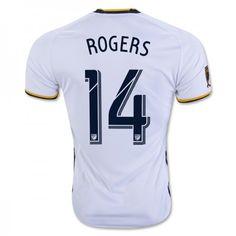 Los Angeles Galaxy 16-17 #ROGERS 14 Hjemmebanesæt Kort ærmer