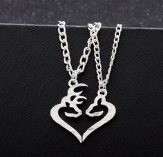 Deer Couples Necklace Set