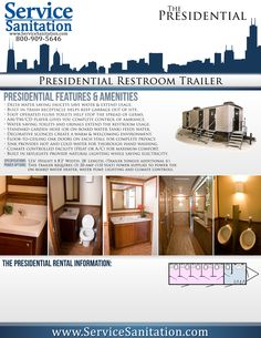 First impressions can last a lifetime! The richly-appointed Presidential Luxury Restroom Trailer combines both elegance and sophistication to leave a lasting impression on even the toughest critics.