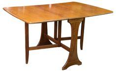 Danish Midcentury Drop-Leaf Table