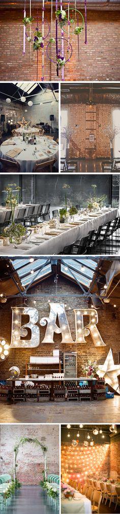 Decoracion de boda civil. Decoración estilo industrial