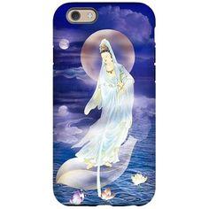 Water Moon Kuan Yin iPhone 6/6s Tough Case on CafePress.com