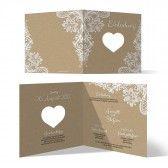 Lasergeschnittene Hochzeit Einladungskarten - Rustikal Kraftpapier
