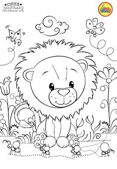 Cuties Coloring Pages for Kids - Free Preschool Printables - Slatkice Bojanke - Cute Animal Coloring Books by BonTon TV Letter C Coloring Pages, Free Kids Coloring Pages, Unicorn Coloring Pages, Disney Coloring Pages, Animal Coloring Pages, Free Printable Coloring Pages, Colouring Pages, Coloring Pages For Kids, Coloring Sheets