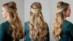 Dutch Braid Embellished Half Updo   Missy Sue