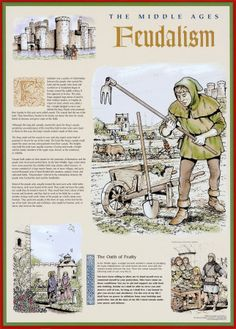 The Middle Ages - The Feudal System Print