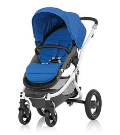 Affinity Stroller by Britax - White base frame with Sky Blue color pack - Britax USA
