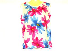 Your Shop - Manage Listings - Etsy Floral Tops, Custom Made T Shirts, Summer Vest, Cotton Vest, Loose Fitting Tops, Vest Tops, Vintage Books, Floral Clothing