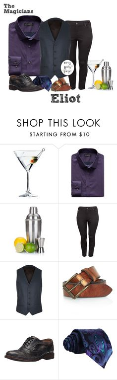 """""""The Magicians: Eliot"""" by curvygeekyfangirl ❤ liked on Polyvore featuring Libbey, Banana Republic, H&M, River Island, Bed