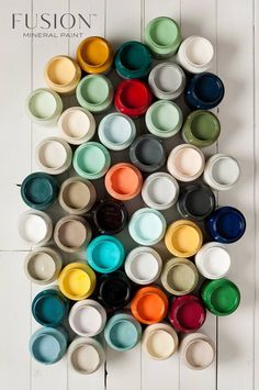 Lots of beautiful Fusion Mineral Paint colours