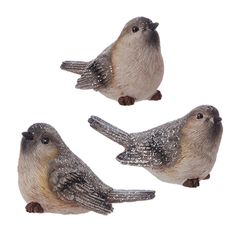 "RAZ Imports BIRD 3"" BIRD - 3 Asst - Made of Resin - Measures 1.5"" X 3"" - Theme: Graphic Woodland"
