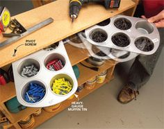 diy easy and inexpensive ways to organize your garage!!..love all these ideas!