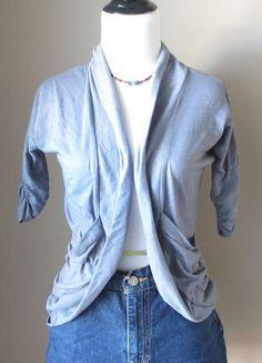 Disgreet Brand Gray Juniors Shrug with scrunch long sleeves, Juniors S Pull Over #Discreet #Shrug #CareerandCasual