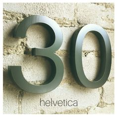 One of the most popular typefaces of the 20th century. Classic Helvetica numbers and letters available to order online!
