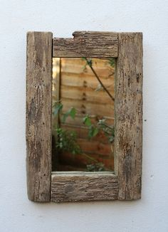Driftwood Mirror, 62x42 cm, Drift wood Mirror, Cornwall, Stunning wood texture! £70.00