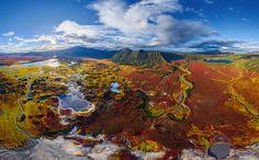 Кальдера вулкана Узон, AirPano. Ловите мгновения на Яндекс.Картинках.