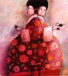 Kai Fine Art is an art website, shows painting and illustration works all over the world. Art And Illustration, Graphic Design Illustration, Claudia Tremblay, Creation Art, Art Sculpture, Tea Art, Creative Portraits, French Artists, Childrens Books
